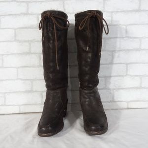 Womens Frye Fur Insulated Tall Boots 5.5